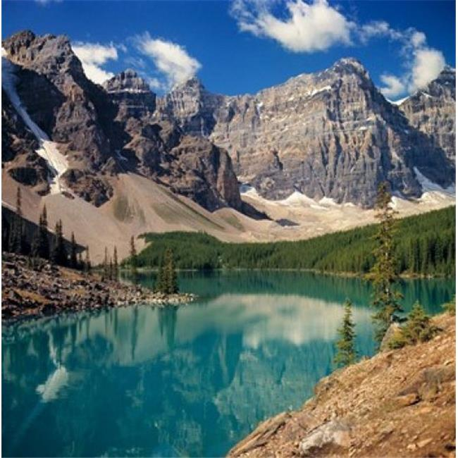 Posterazzi PDDCN01RER0034 Alberta Moraine Lake Valley of the Ten Peaks Poster Print by Ric Ergenbright - 26 x 26 in. - image 1 of 1