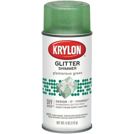 Krylon Glamorous Green Glitter Spray, 4 Oz.