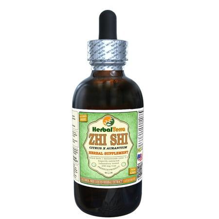 Zhi Shi, Bitter Orange (Citrus × aurantium) Glycerite, Organic Dried Immature Fruit Powder Alcohol-FREE Liquid Extract (Herbal Terra, USA) 2 oz Citrus Aurantium Fruit Extract
