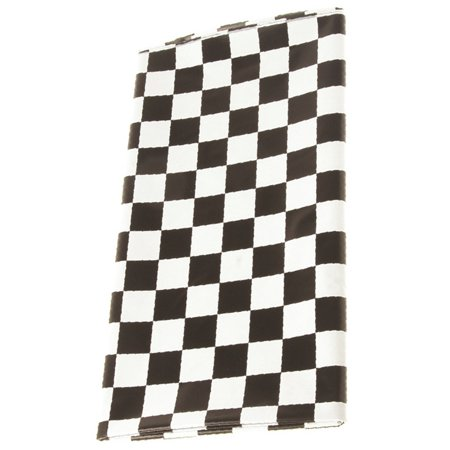 Checkered Flag Plastic Table Cover - - Checkered Table Covers