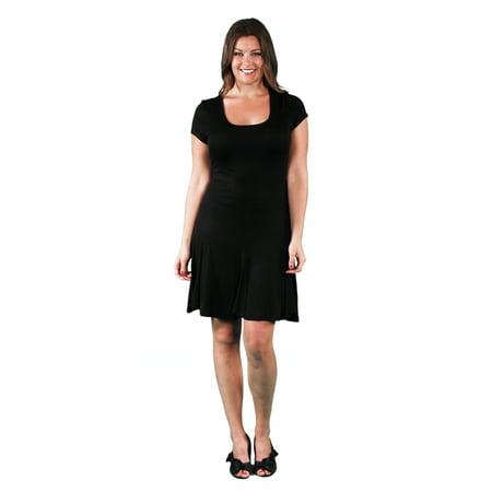 Women's Plus Size Knee Length Short Sleeve T-Shirt Dress