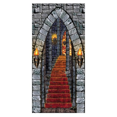 Morris Costumes Party Supplies Halloween Castle Entrance Door Cover, Style BG00016](Halloween Entrance Columns)