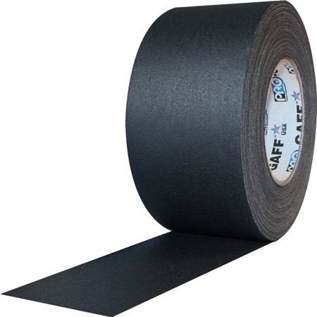 "Pro Gaff Black Gaffers Tape 3"" x 55 yard Roll (Pack of 16)"
