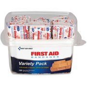 First Aid Only Assorted Bandage Box Kit, Clear, 1 Each (Quantity)