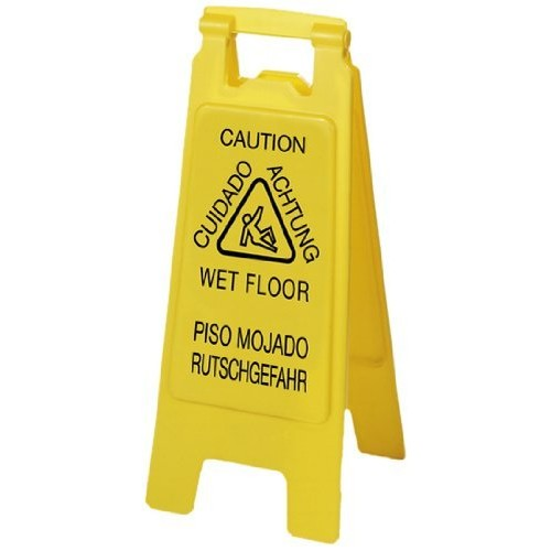 "Carlisle (3690904) 25"" Flo-Pac������ English Spanish German Economy Wet Floor Sign by Carlisle"