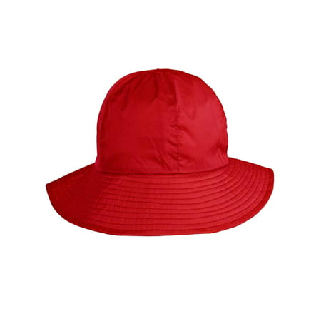 Reversible Rain Or Sun Style Bucket Hat - White Bucket Hats