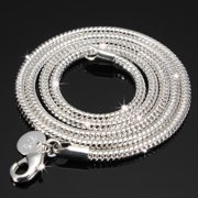 925 Sterling Silver Snake Chain Necklace 2/3MM Jewelry 16'', 18'', 20'',22'',24'' Stunning