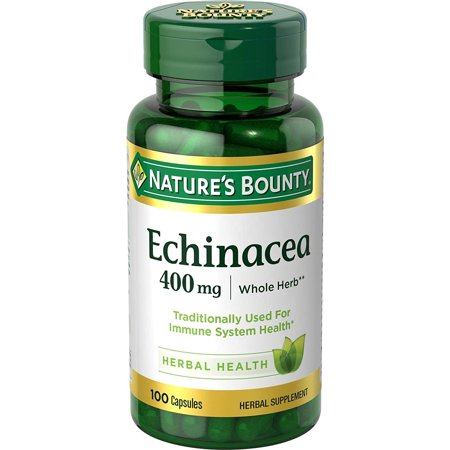 Nature's Bounty Echinacea 400 mg Capsules 100 ea