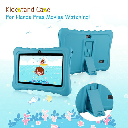 "Learning Tablets, 7"" Kids Tablet with WIFI Light Weight Portable Shock-Proof Silicone Case Kick stand Available For Kids - image 10 of 11"