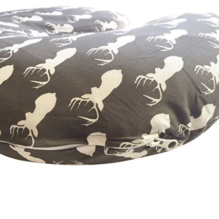 DANHA Jersey Fabric Nursing Pillow Cover | Deer Slipcover | Best for Breastfeeding Moms | Soft Fabric Fits Snug On Nursing Pillows to Aid Mothers While Breast Feeding | Great Baby Shower