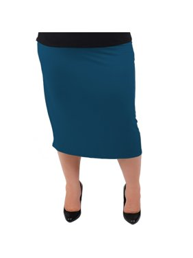 56c459ee4f6 Product Image Plus Size Comfortable Soft Stretch MIDI Skirt - X-Large  (12-14)