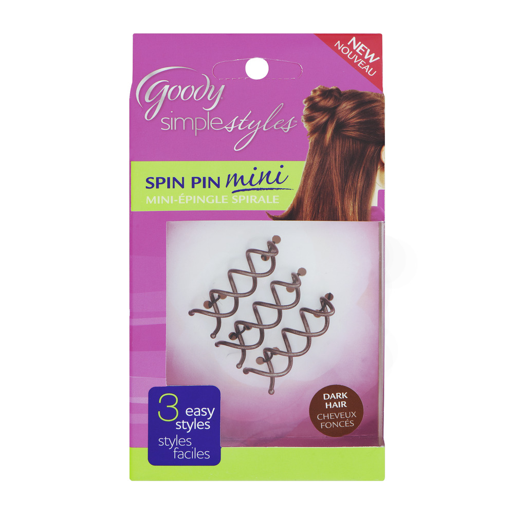 Goody SimpleStyles Spin Pin Mini Dark Hair - 3 CT