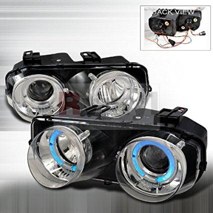 Acura Integra 1994 1995 1996 1997 Doors Dual LED Halo Projector Headlights - Chrome