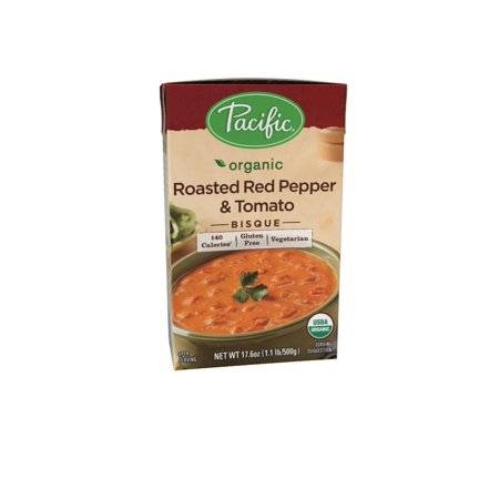 Pacific Foods Organic Roasted Red Pepper and Tomato Bisque, 17.6 fl oz Organic Chunky Tomato Bisque