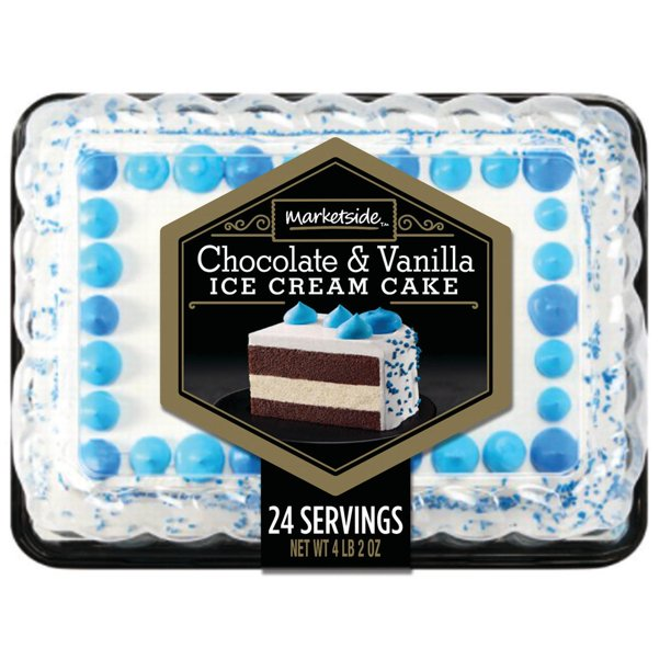 Marketside Chocolate Vanilla Ice Cream Cake 2 Oz Walmart Com Walmart Com