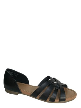 131a75594c95 Product Image Women s Time And Tru Huarache Sandals. Product Variants  Selector. Black