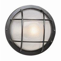 "Bel Air Lighting CB-41505-BK 8"" Black Round Bulkhead Light Fixture"