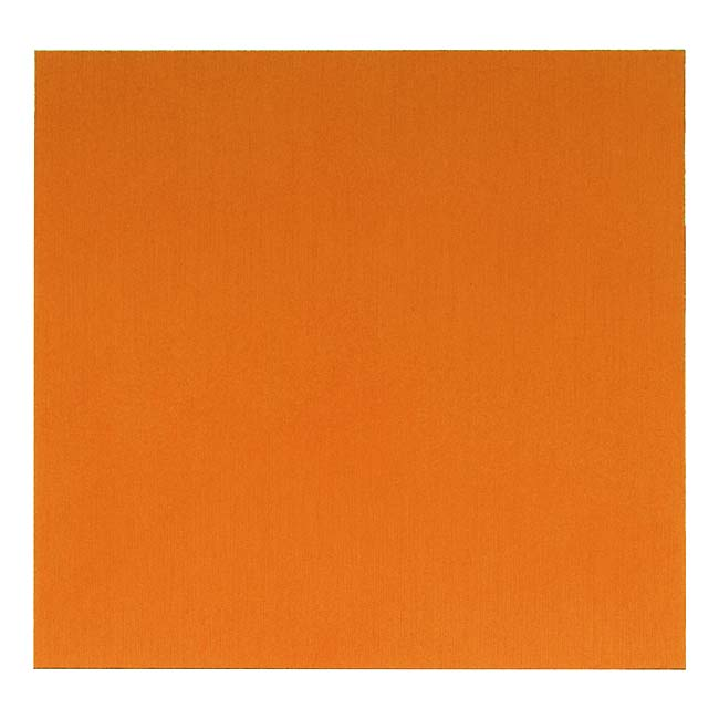 Lillypilly Anodized Aluminum Square Metal Sheet - Orange 3x3 Inch