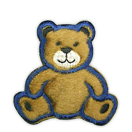 Altotux Cute Fuzzy Furry Brown Teddy Bear Plush Embroidered Motif Applique DIY Sewing Craft Supplies Self Adhesive Patch By (Self Adhesive Appliques)
