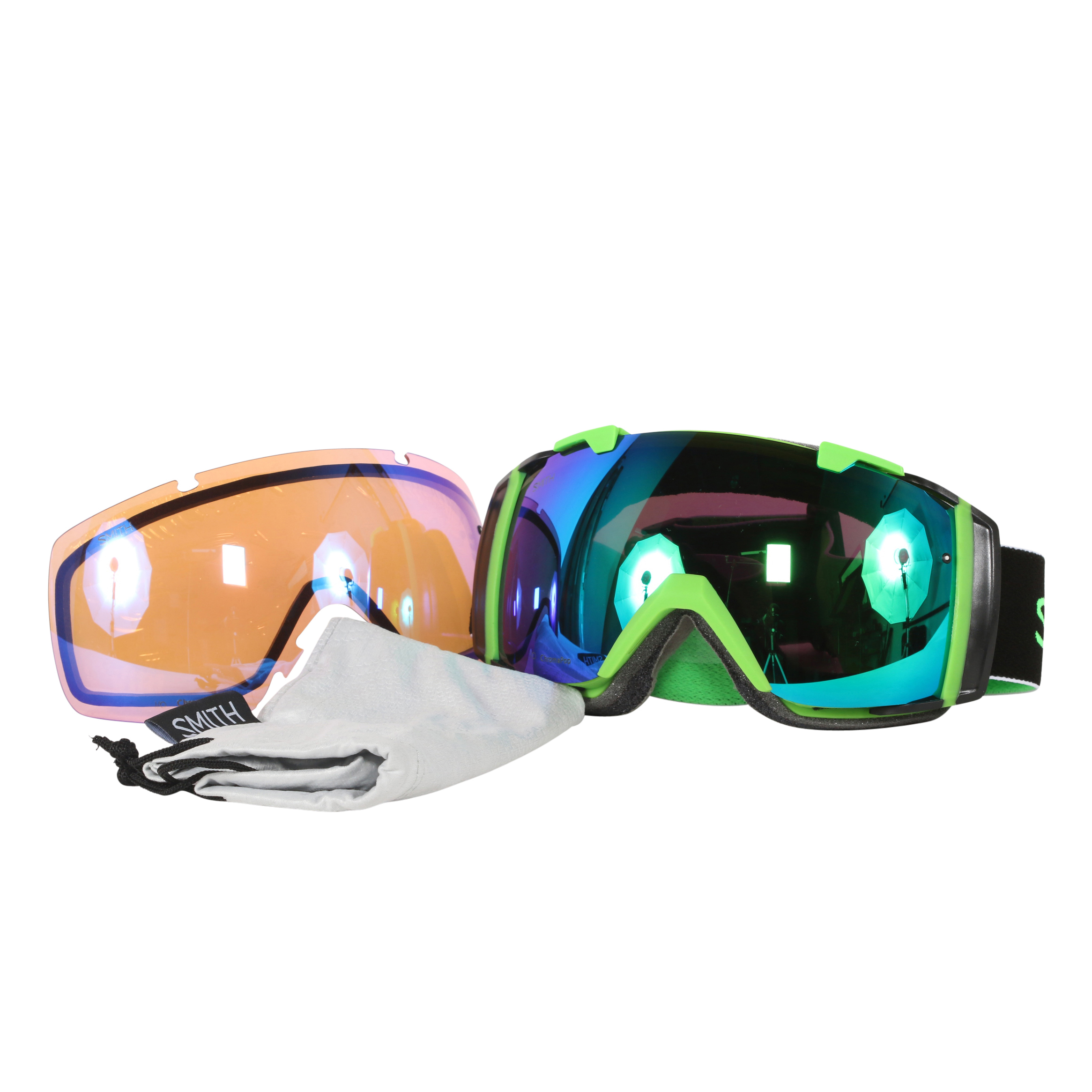 Smith Optics Reactor Split ChromaPop Sun I O Interchangeable Snow Goggles by Smith Optics