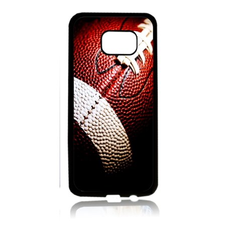 Football Up Close Print Design White Rubber Thin Case Cover for the Samsung Galaxy s7 - Samsung Galaxys7 Accessories - s7 Phone Case