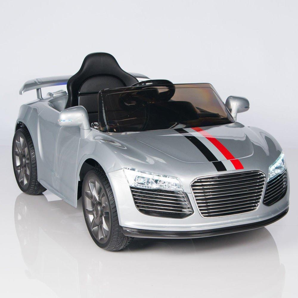 Sport eEva Edition Audi R8 Style 12v,MP3,Lights, Kids Ride On Car With Remote Control- Silver