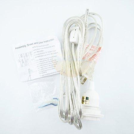 Opal Cased Globe Pendant - Fantado BULK CASE Single Socket Pendant Light Cord Kits for Lanterns (11FT, UL Listed, Clear) (10 PACK) by PaperLanternStore