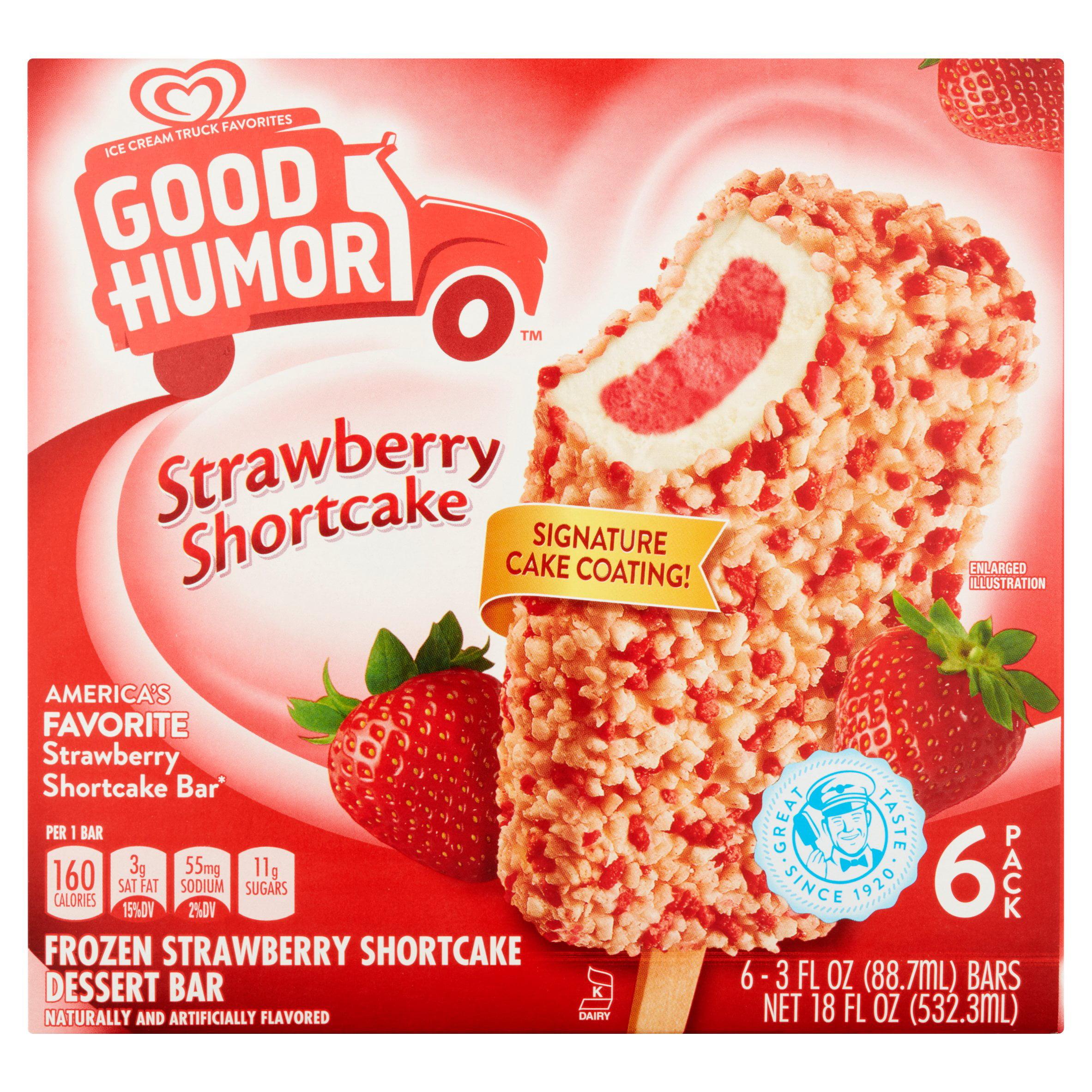 Good Humor Frozen Strawberry Shortcake Dessert Bar, 3 fl oz, 6 count by Unilever