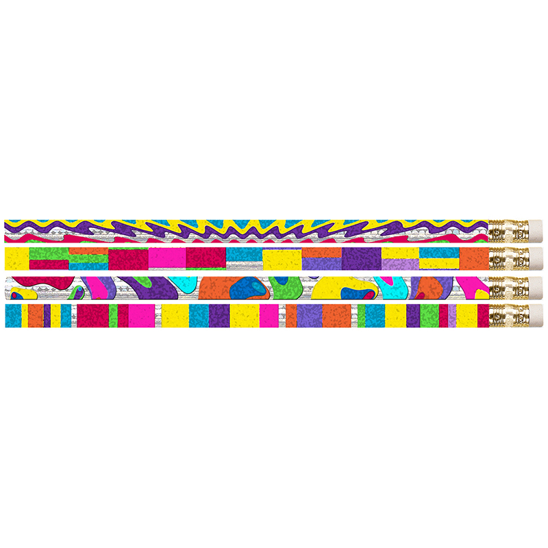 WATERCOLORS 12PK MOTIVATIONAL FUN PENCILS
