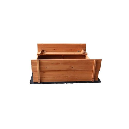 MERAX Convertible Cedar 4' Square Sandbox