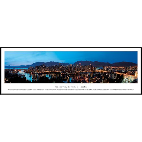 Vancouver, British Columbia as Viewed from False Creek- Blakeway Panoramas Print with Standard Frame