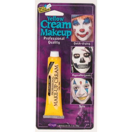 Pro Yellow Makeup Tube Adult Halloween Accessory (Cut Mouth Halloween Makeup)