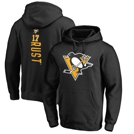Bryan Rust Pittsburgh Penguins Fanatics Branded Backer Name & Number Pullover Hoodie - Black - Penguin Hoodie