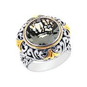 Phillip Gavriel 18k Gold & Sterling Silver Green Amethyst Ring, Size 6