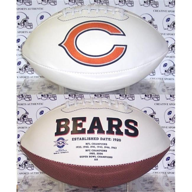 Creative Sports FB-BEARS-Signature Chicago Bears Embroidered Logo Signature Series Football