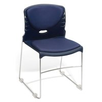 OFM Model 320-VAM Contract Stack Chair with Anti-Microbial/Anti-Bacterial Seat & Back, Navy