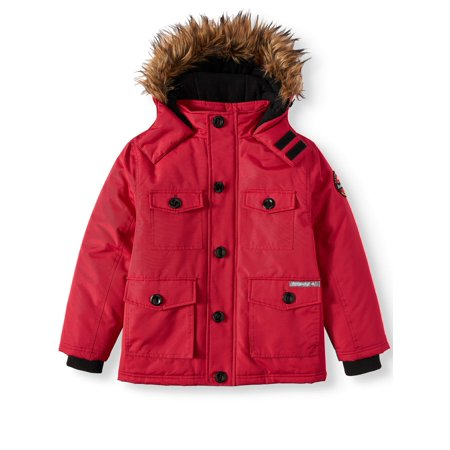 Boys Mcmurdo Down Parka - Heavy Padded Water Resistant Parka Jacket With Trimmed Hood (Big Boy)