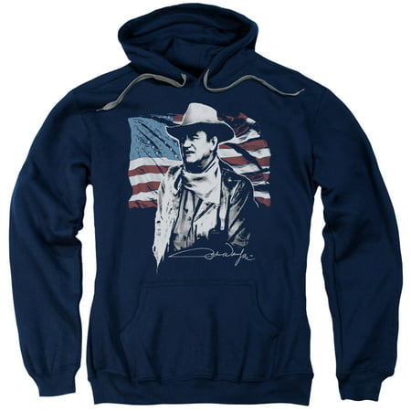 John Wayne/American Idol Adult Pull Over Hoodie Navy