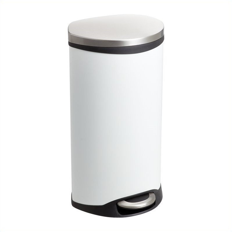 Safco Step-On Receptacle - 7.5 Gallon in White - image 1 of 1