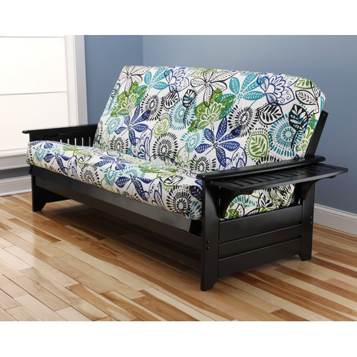 furnishing a small bedroom futon sofa in black finish with bali mattress 15361