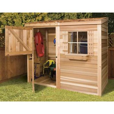 cedar shed 8 x 4 ft bayside wood storage shed