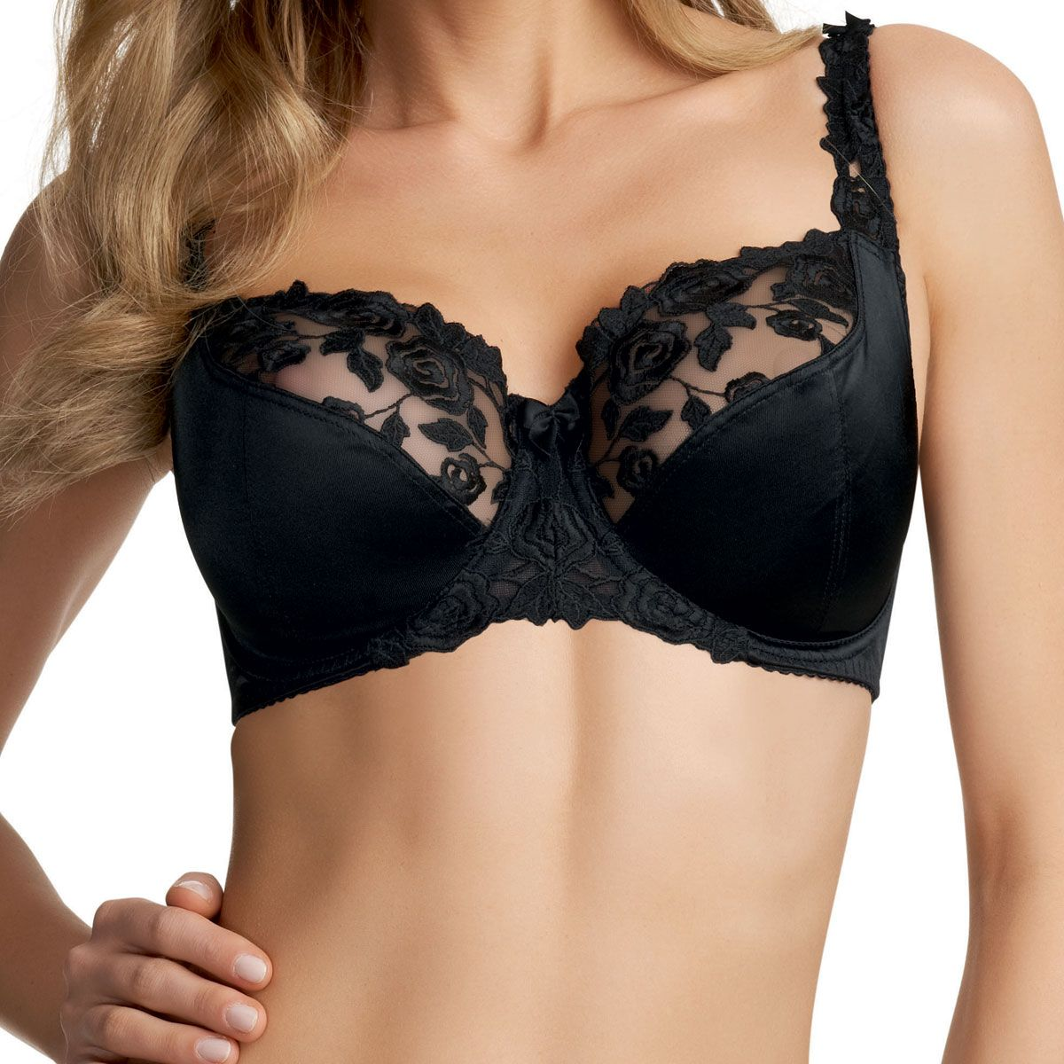 New Fantasie Lingerie Belle Underwire Balcony Bra 6010 Black 30C