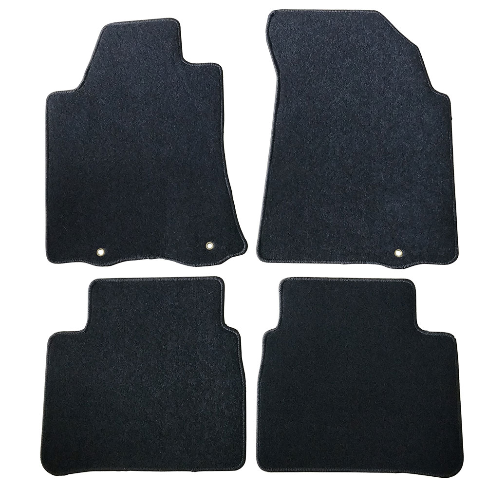 Fits 13-16 Nissan Altima Black Nylon Floor Mats Carpets 4 PCS