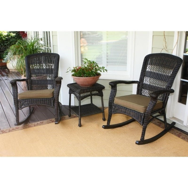 Tortuga Portside 3 Piece Plantation Patio Bistro Set in Dark Roast