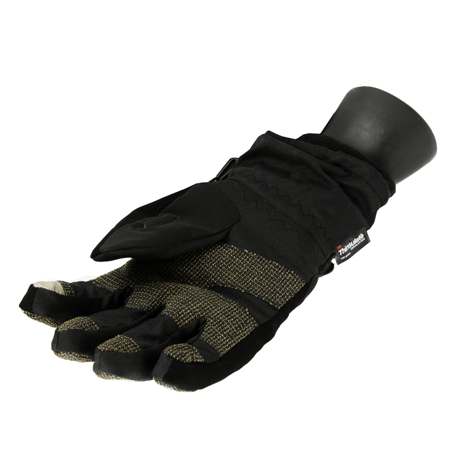 Mens leather gloves thinsulate - Men S Black Softshell Winter Thinsulate Insulated Touchscreen Ski Freestyle Gloves Large Walmart Com