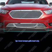 Compatible with 2013-2019 Ford Taurus SHO Stainless Steel Bumper Mesh Grille Insert F75938T