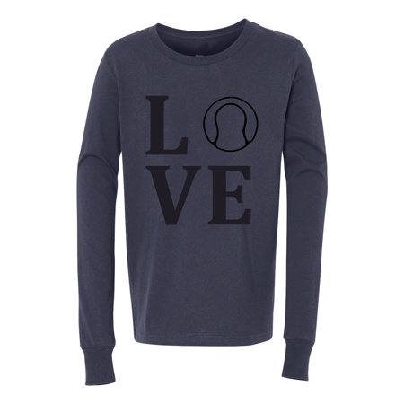 - Love Tennis Sports Jersey Youth Long Sleeve T-Shirt