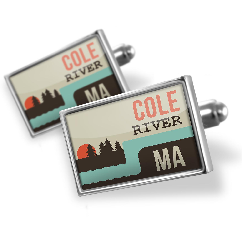 Cufflinks USA Rivers Cole River - Massachusetts - NEONBLOND