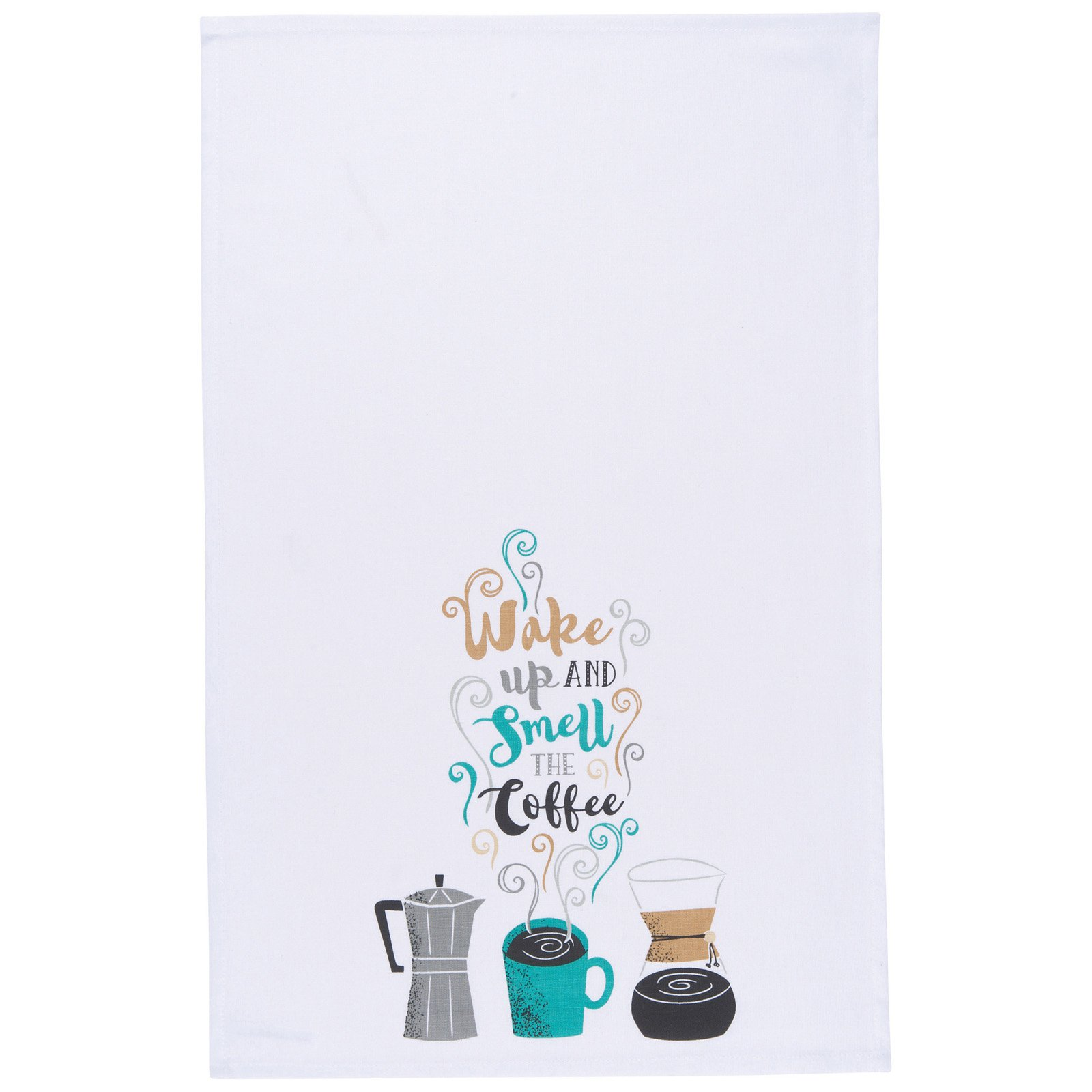 Now Designs Kitchen Towel Wake Up Coffee by Now Designs