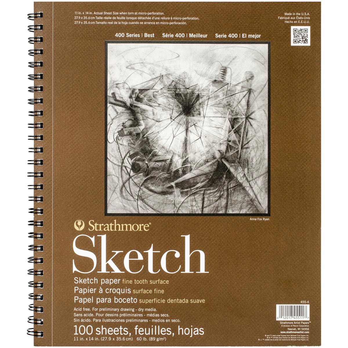 "Strathmore 11"" x 14"" Wire Bound Sketch Pad"